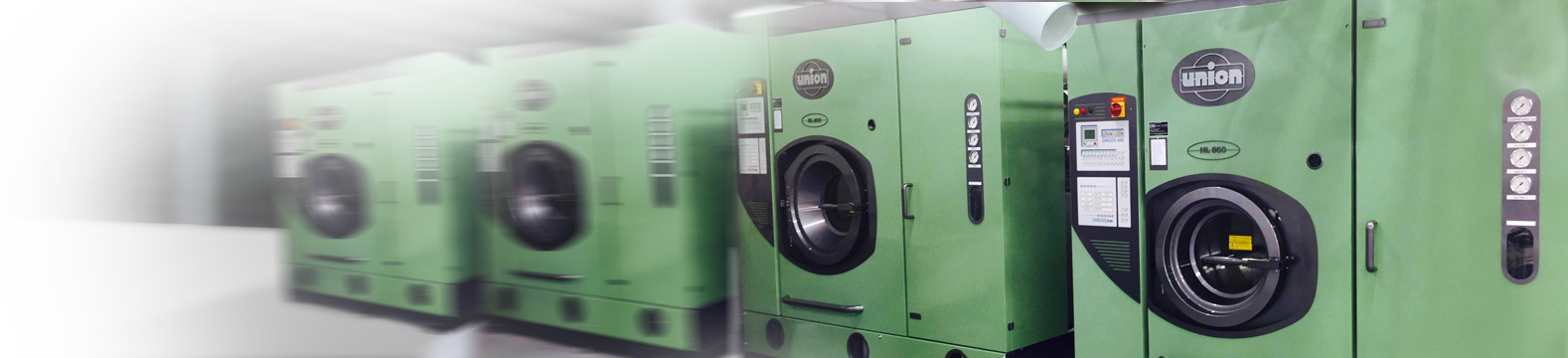 green dry cleaning machines